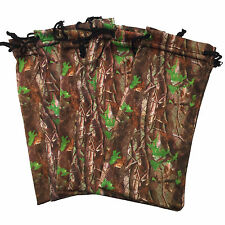 6 PCS Brown Tree Camo Camouflage Microfiber Soft Case Pouch Bag for Sunglasses
