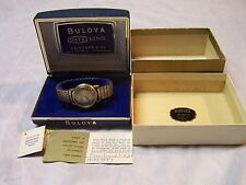 VINTAGE 1967  BULOVA DATE KING H-959847 30 JEWEL MENS WATCH W/BOX PAPERS PARTS R