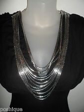Sky Clothing Brand XS NWT Top Black Silver Chain Necklace Club Party Spring