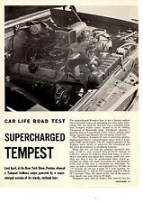 1961 PONTIAC TEMPEST SUPERCHARGED 195/250-HP  ~  4-PAGE ROAD TEST / ARTICLE / AD