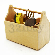 1:6 Scale Dollhouse Miniature Tool Box Tools Workshop Garage Accessory Wooden