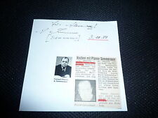ADOLF SOMMERAUER signed Autogramm In Person Albumseite PFARRER ZDF +1995