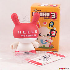 Kidrobot Dunny 2006 Series 3 - Hello My Name Is Red 3-inch figure Huck Gee + Box