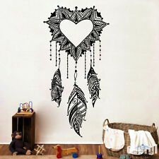 Dream Catcher Wall Decals Amulet Heart Vinyl Sticker Boho Bedding Bohemian MS761