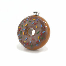 Novelty Doughnut 6oz Hip Flask 100% Stainless Steel for an Alcoholic Gift