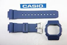 Genuine Casio G-Shock DW-5600M-2 New Blue Watch Band & Bezel Combo DW-5600E