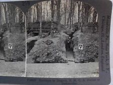 WW1 ENTRANCE TO DUGOUT, Y.M.C.A. STATION AT BADONVILLER! KEYSTONE STEREOVIEW 219