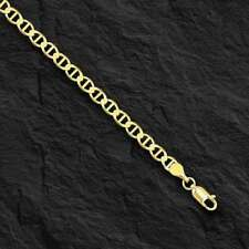 "10kt Solid Yellow Gold Anchor Mariner Link Chain/necklace  3.2 mm 24""  4.5 grams"