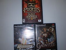 PLAYSTATION2 (3 GAME LOT)GAUNTLET WARRIORS OROCHI BLACK BUCCANEER USED UNTESTED