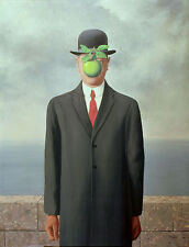 Rene Magritte Son of man  giclee 8X12 canvas print Reproduction of painting