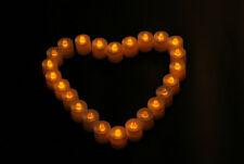 12Hot flackernde Flackern Kerzen flammenlose LED Teelicht Tee Hochzeit Licht