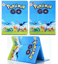 For Apple iPad 2 3 4 Great Pokemon GO Pikachu Pokeball Anime Stand Case Cover