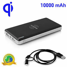 MobilePal Qi Wireless Power Bank 10,000 mAh for Samsung Galaxy S6, S7, Note 5