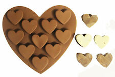 Silicone Heart Chocolate Mould Tray Bake Off ware Ice Cake Decorating Jelly Mold