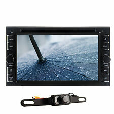 "Camera+6.2"" 2 DIN In Deck Car Stereo DVD Player USB BT IPOD TV Radio Headunit"