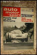AMS Auto Motor Sport 12/67 Volvo 144 S Triumph GT 6 Elektrowagen