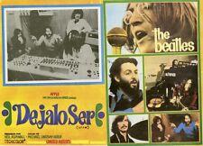 """""""LET IT BE"""" Affiche mexicaine entoilée 1970 (Michael LINDSAY-HOGG / BEATLES)"""