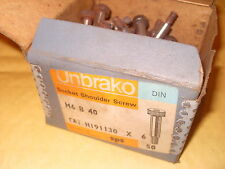 Approx. 78 Unbrako Socket Shoulder Screws M6 Different Lengths - As Photo.