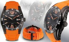 NEW Montreux 0646M Men's Hawkins Collection Orange Silicone Sports Date Watch