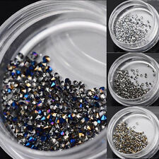 4colors Dazzling Micro Nail Art Rhinestones Sharp Bottom 3D Decoration Manicure