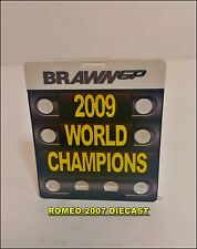 1:18 Pitboard F1 Formula1 Button Brawn GP World Champions 2009 to minichamps