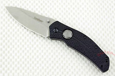 # 3812 Kershaw Thistle folding pocket knife button lock manual opener NEW Carded