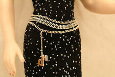 Silvertone Tiered Belt for 15-16inch dolls Diana Tyler Harley Davidson Chain OOP