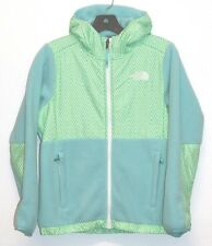 New The North Face Girls Denali Hoodie fleece jacket Mint size Medium