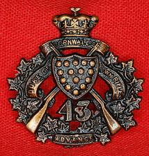 Circa 1907, 43rd DUKE OF CORNWALL'S OWN RIFLES Collar Badge MM.142.