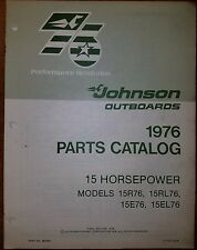 1976 JOHNSON OUTBOARD 15 HP MODELS PARTS CATALOG # 0387549