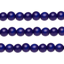 Wood Round Beads Cobalt 8mm 16 Inch Strand