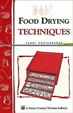 Food Drying Techniques book~4 methods-drying herbs-meats-fruit leathers-storing