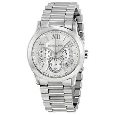 BRAND NEW MICHAEL KORS WOMENS COOPER SILVER CHRONOGRAPH BRACELET WATCH MK6273