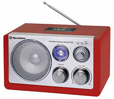 Roadstar HRA-1325US Red Retro Tisch Radio mit USB Kartenslot für MP3
