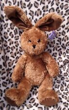 "KOOCHIE EASTER BUNNY RABBIT BROWN WITH BENDABLE EARS 17"" SOFT TOY BEANIE TAGS"