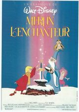 "CPM -Carte postale WALT-DISNEY Affiche de film"" MERLIN L'ENCHANTEUR  ""Postcard"