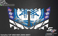YZF250-450 2014-2017 radiator louver decals stickers louvre graphics YZ250F 2015