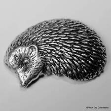 Hedgehog Pewter Pin Brooch - British Hand Crafted - Countryside Farm Animal