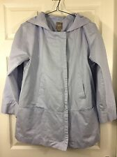 J Jill Ladies Light Blue Hooded Jacket Rain Coat Spring Season Size Medium