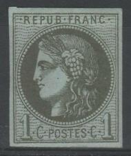 "FRANCE STAMP TIMBRE N° 39 C "" CERES BORDEAUX 1c OLIVE REPORT 3 "" NEUF x TB  N895"