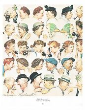 "Norman Rockwell poster print: ""THE GOSSIPS"" Saturday Evening POST cover 3/6/1948"