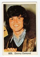 1970s Swedish Pop Star Card  #605 American teen heartthrob singer Donny Osmond