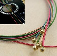 Set of Acoustic Guitar Colorful Rainbow Strings (012-053) Medium Tention, Soft