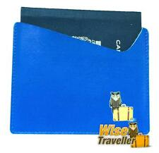 Blue RFID Blocking Passport Wallet Sleeve Shield anti theft id card anti scan