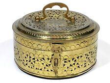 Brass Trinket Box Filigree
