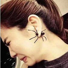 1Pc Chic Womens Punk Halloween  Black Spider Charm Ear Stud Earrings Jewelry
