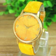 UNIQUE NEW FASHION WOMENS  WATCH - JEANS DESIGN - YELLOW