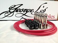 George L's 155 Guitar Pedal Cable Kit .155 Red / Black / Nickel - 10/10/5