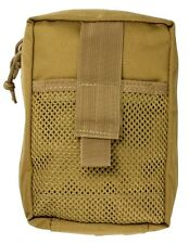 Military Tactical Trauma Kit Lg Molle Medic Pouch w/ Blood Stopper Kit Coyote