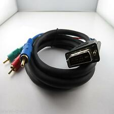 1,5 m cable DVI Fiche x 24 + 5 à 3 Cinch YUV RGB RCA Video TV Ordinateur DVD PC